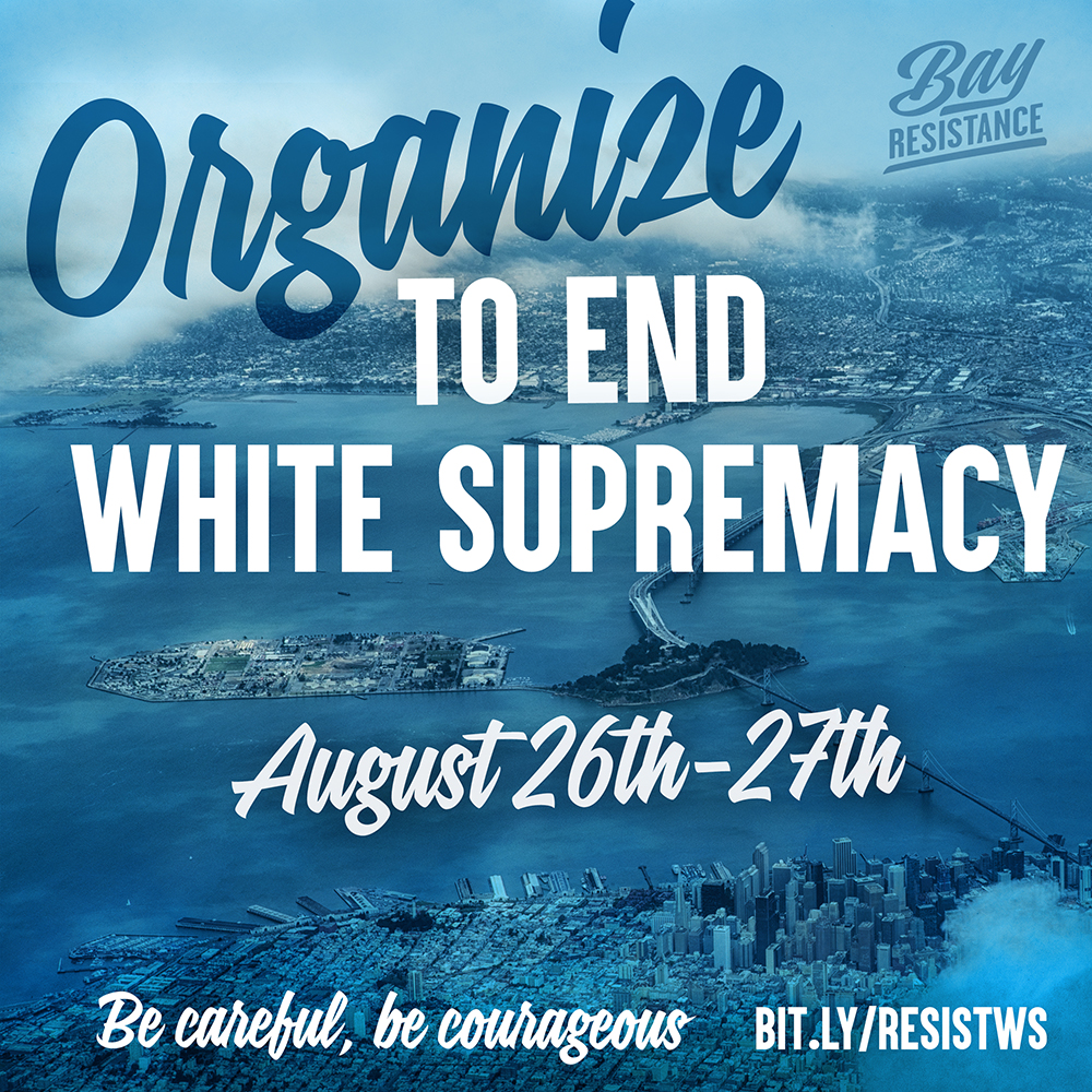 Bay Resistance Organize To End White Supremacy - A map of us after white supremcists take over